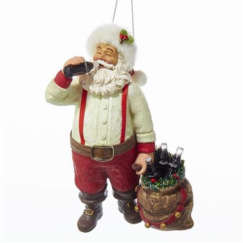 Christmas Ornament   Santa Drinking Coca Cola   5.5in