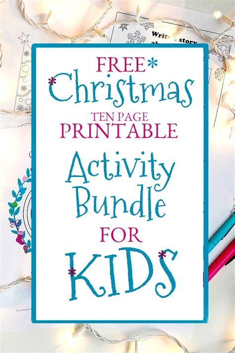 Christmas Printable Activity Bundle for Kids | Grateful ...