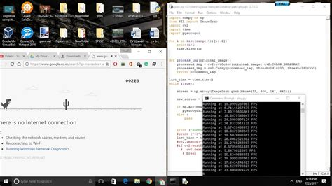 chrome s T Rex game automated with python bot   YouTube