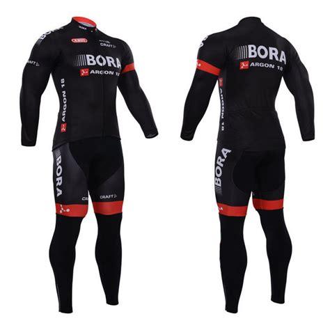 Ciclismo jersey bora 2015 roupa ciclismo negro rojo largo ...