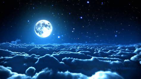 Cielo nubes estratosfera luna estrellas naturaleza ...
