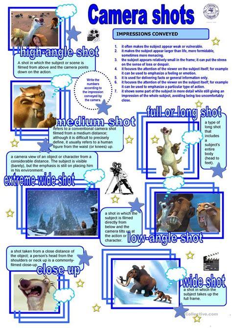 Cinema   Camera shots   English ESL Worksheets