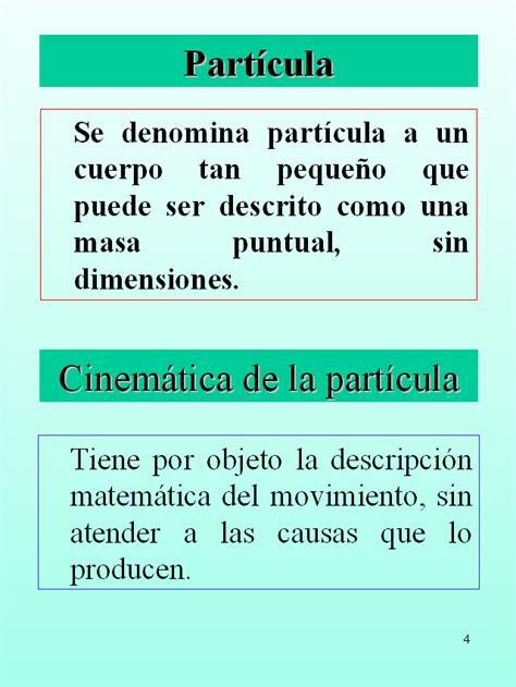 Cinemática de la partícula   Monografias.com