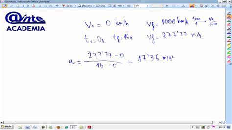 Cinemática MRUA ThrustCC Calcular aceleración y espacio ...