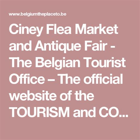 Ciney Flea Market and Antique Fair   The Belgian Tourist ...