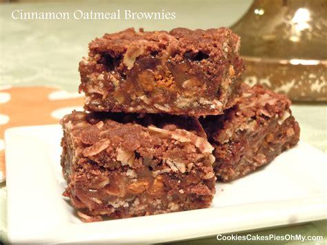 Cinnamon Oatmeal Brownies – CookiesCakesPiesOhMy