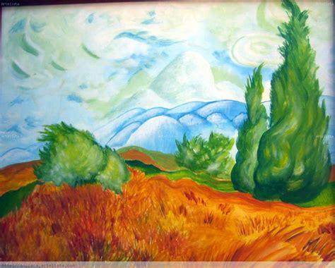 Cipreses de Van Gogh Ana Maria Jimenez Moreno   Artelista.com