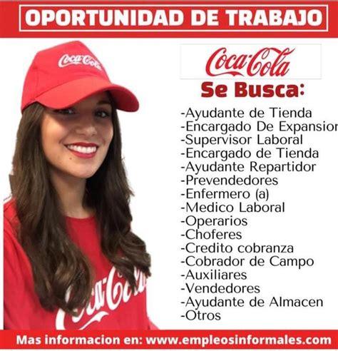 Circula falsa convocatoria de trabajo en Coca Cola ...