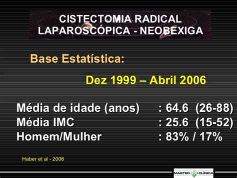 Cistectomia Radical Laparoscópica   Neobexiga