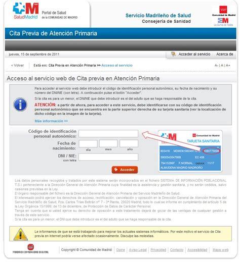 Cita previa en Atención Primaria en Madrid