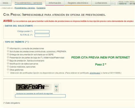 Cita previa INEM por INTERNET | Bricolaje y manualidades ...