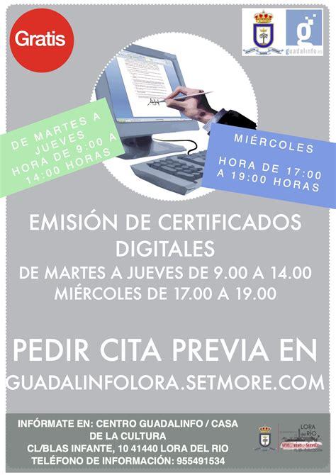 Cita previa para la emisión de certificados digitales en ...