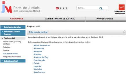 Cita previa Registros Civiles de Madrid   Parainmigrantes