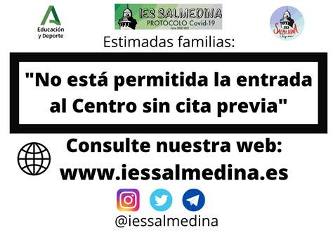Cita previa – Web oficial I.E.S Salmedina