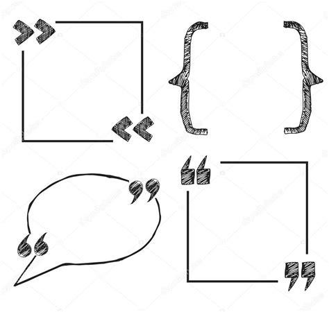 Citar o conjunto de caixas de texto — Vetores de Stock ...