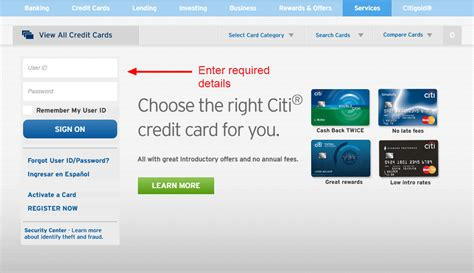Citi Credit Card Online Login   CC Bank