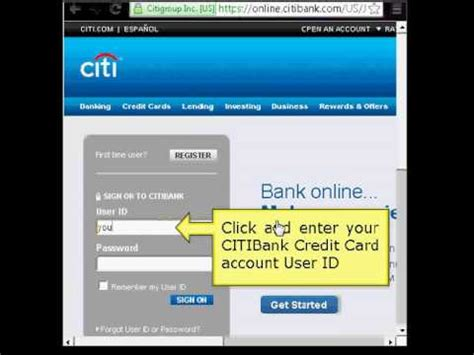 Citibank Online Login Tutorial   YouTube