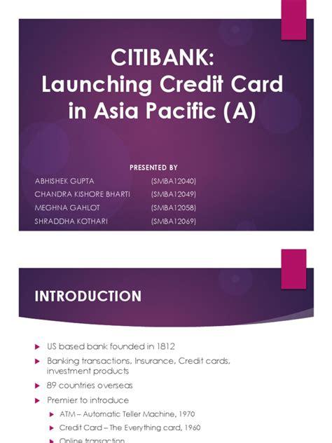 CitiBank PPT | Tarjeta de crédito | Visa Inc.