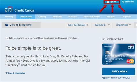 Citibank Simplicity Credit Card Login | Make a Payment ...