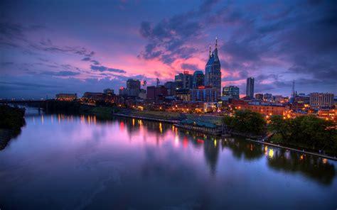 city, Urban, Lights, River Wallpapers HD / Desktop and ...