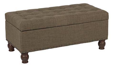 Clark Storage Bench Fabric:Milford Pecan   Walmart.com ...