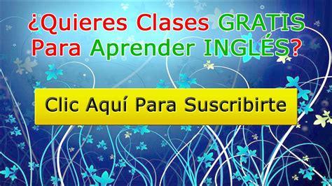 Clases de inglés gratis online y en vídeo   YouTube