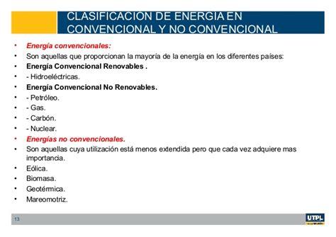 Clasificación de la energía en renovable y no renovable y ...