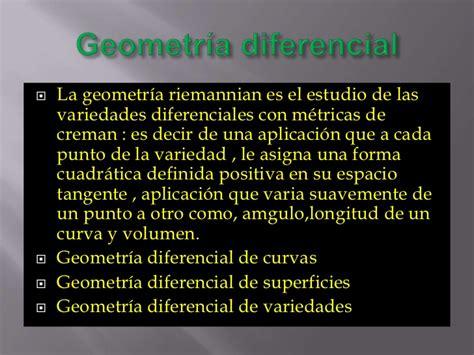 Clasificacion de la geometria