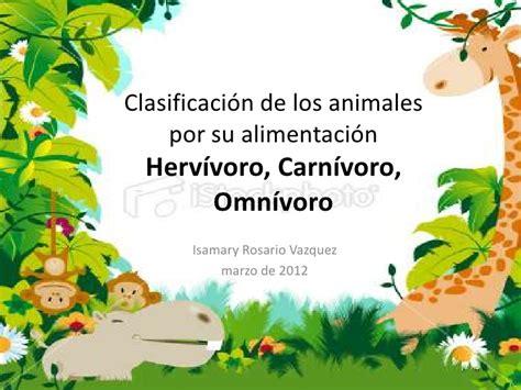 Clasificación de los animales por su alimentación new