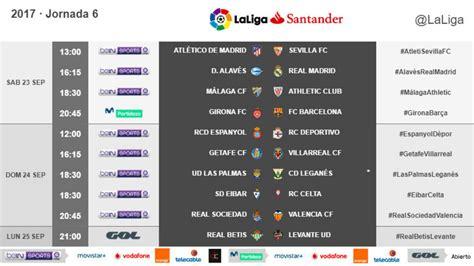 Clasificación y resultados de la jornada 6 de la Liga ...