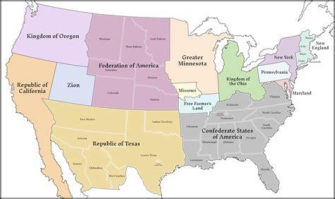 Classic Balkanized US Map #59,493 by Upvoteanthology on ...
