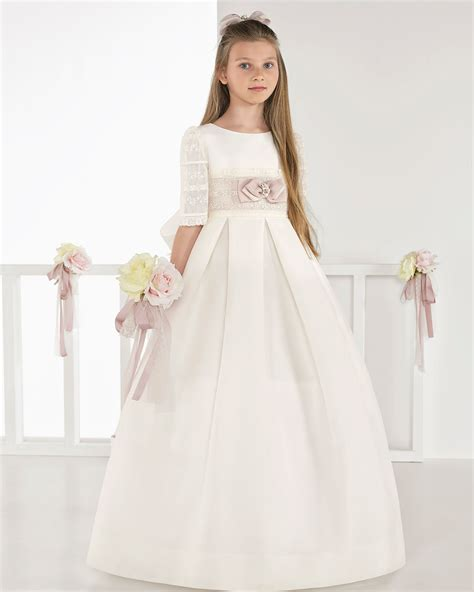 Classic basketweave First Communion or bridesmaid s dress ...