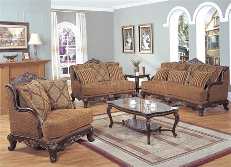 Classic Colored Traditional Living Room w/Carved Wood Frame