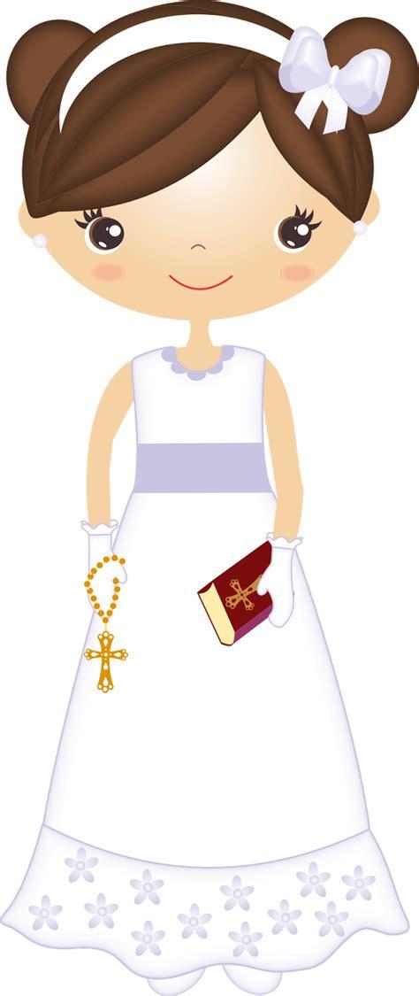 Clipart de Nenas en su Primera Comunión. | First communion ...