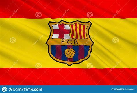 Clube Barcelona Do Futebol De Bandeira, Espanha Imagem ...