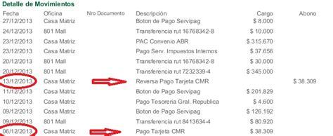 Cmr Falabella Y Banco Falabella   Pago No Cursado Por ...