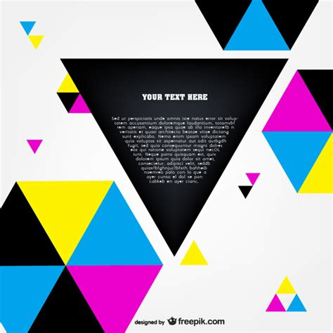 Cmyk polygonal template vector Vector | Free Download