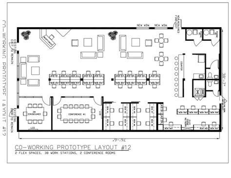 CO WORKING LAYOUT 12 | Coworking space design, Office ...