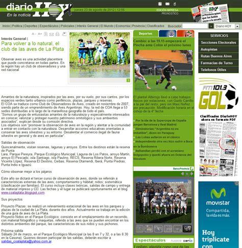 COA La Plata   Noticias del COA: Nota en diario HOY: Para ...