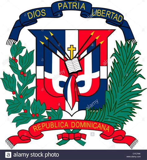 Coat of arms of the Dominican Republic Stock Photo ...