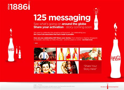 Coca Cola 125 years Intranet   Designers Forever