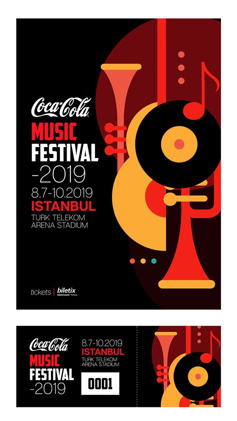 Coca Cola 2019 Music Festival Poster and Ticket Design on ...