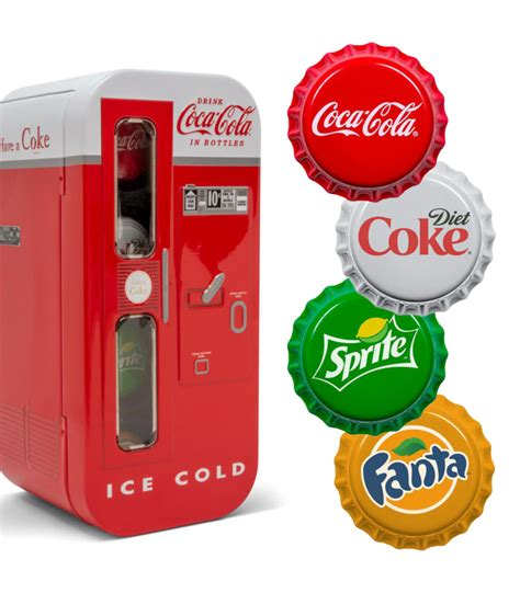 Coca Cola 2020 VENDING MACHINE SET Sprite Fanta Bottle 4x ...