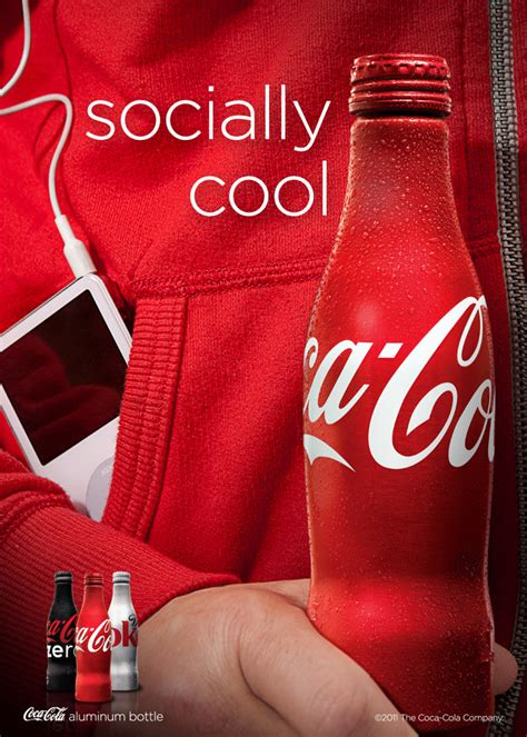 Coca Cola Aluminum Bottle Ads
