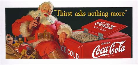 Coca Cola Christmas Posters over 80 years   Mirror Online