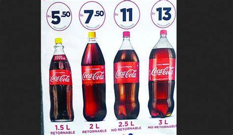 Coca Cola sube sus precios hasta en un boliviano