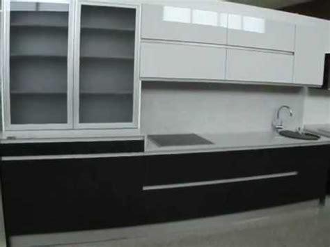 Cocina Blanco y Negro con Vitrina de Aluminio   YouTube