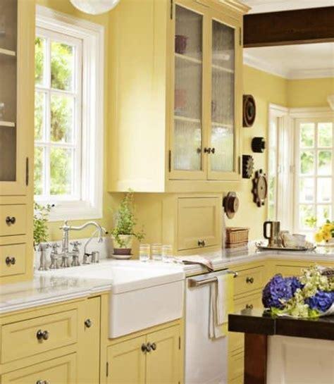 cocina con gabinetes y paredes amarillas | Fabulosos ...