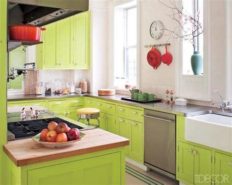 cocina con muebles de color verde acido   Casa Web