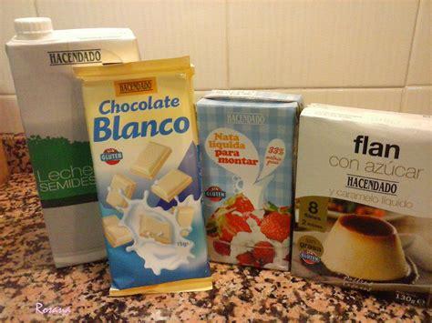 Cocina con Rosana: Flan con chocolate blanco